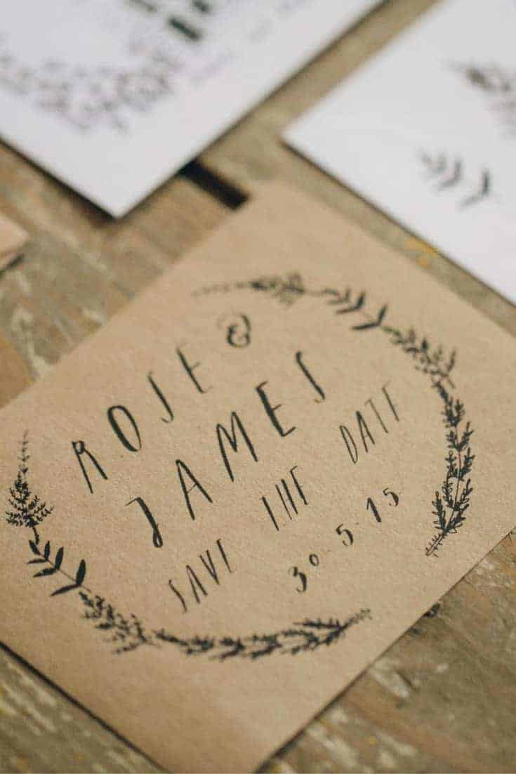 handmade save the date calligraphy wedding stationery ideas by Alice Gabb. Click through to get all the details you need