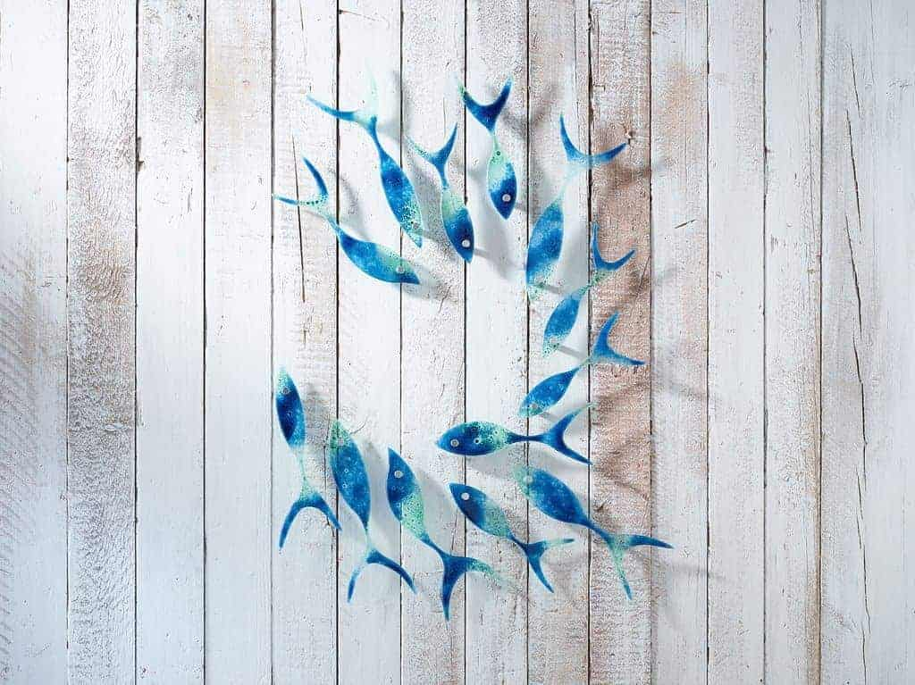 love Jo Downs glass - handmade in Cornwall and inspired by the coast