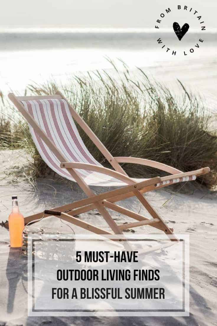 Click through to discover our 5 must-have outdoor living finds to make the most of this summer