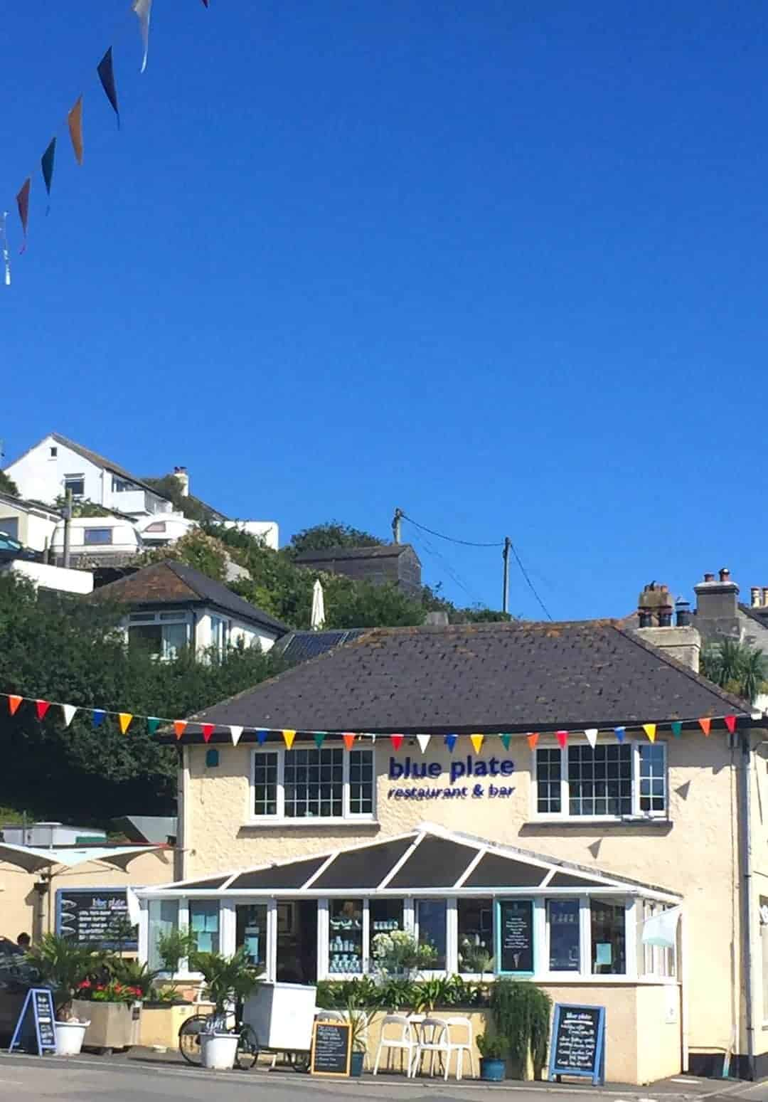 Blue Plate Downderry cornwall restaurant bar and deli by the sea