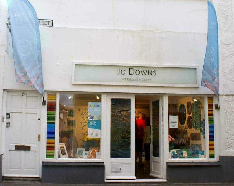 Jo Downs Glass shop Padstow Cornwall
