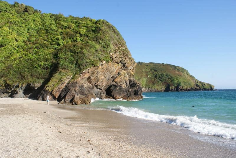 Lantic Bay beach Cornwall