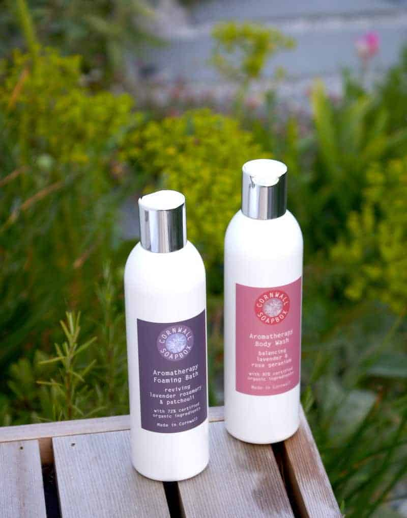 Cornwall Soapbox lavender bath foam body wash