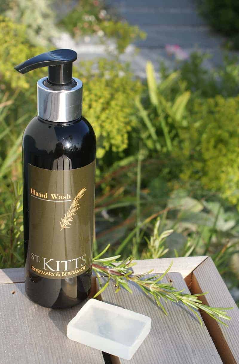 St Kitts Herbery cornwall rosemary and bergamot hand wash