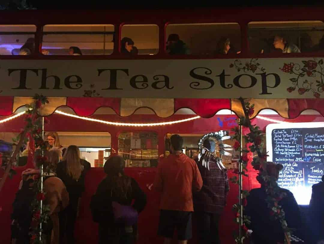 the tea stop at wilderness festival