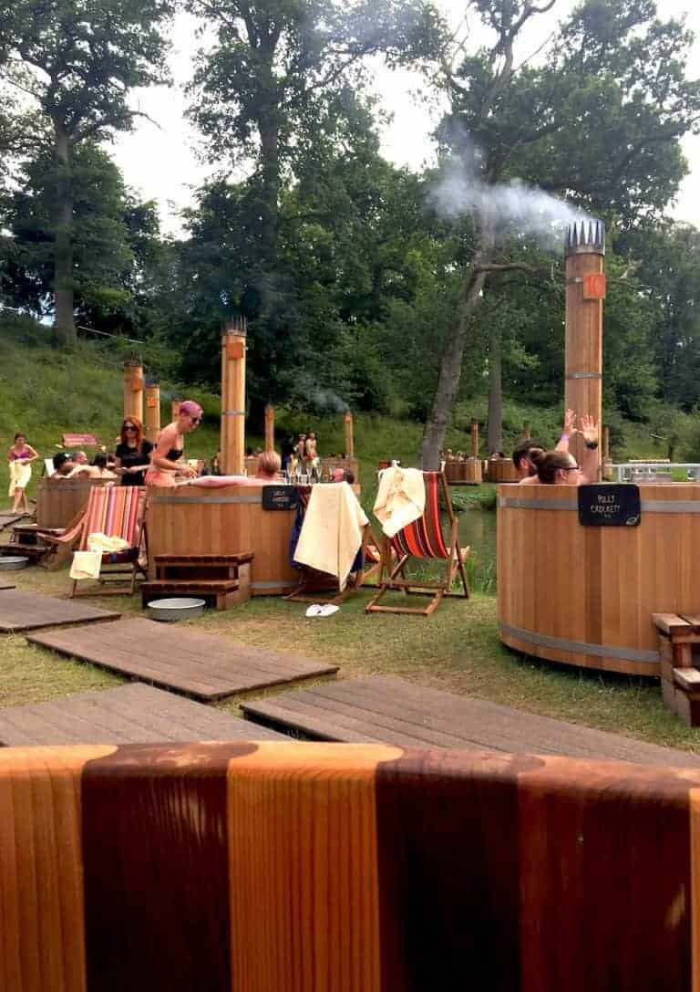 cedar hot tubs at wilderness festival lakeside spa hot tubs