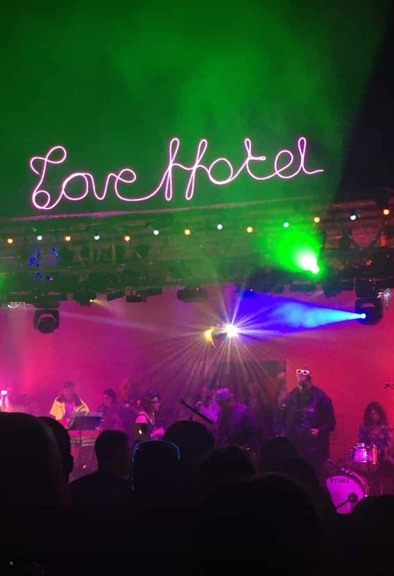 loved the live music DJs at wilderness festival love hotel