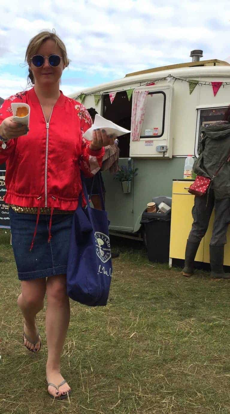 wilderness festival vintage caravan tea and cake