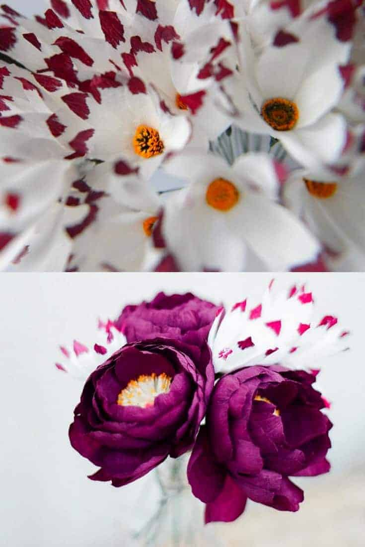 handmade paper flowers by Nikita of Wild Paper Florist in London. Click through to find out more