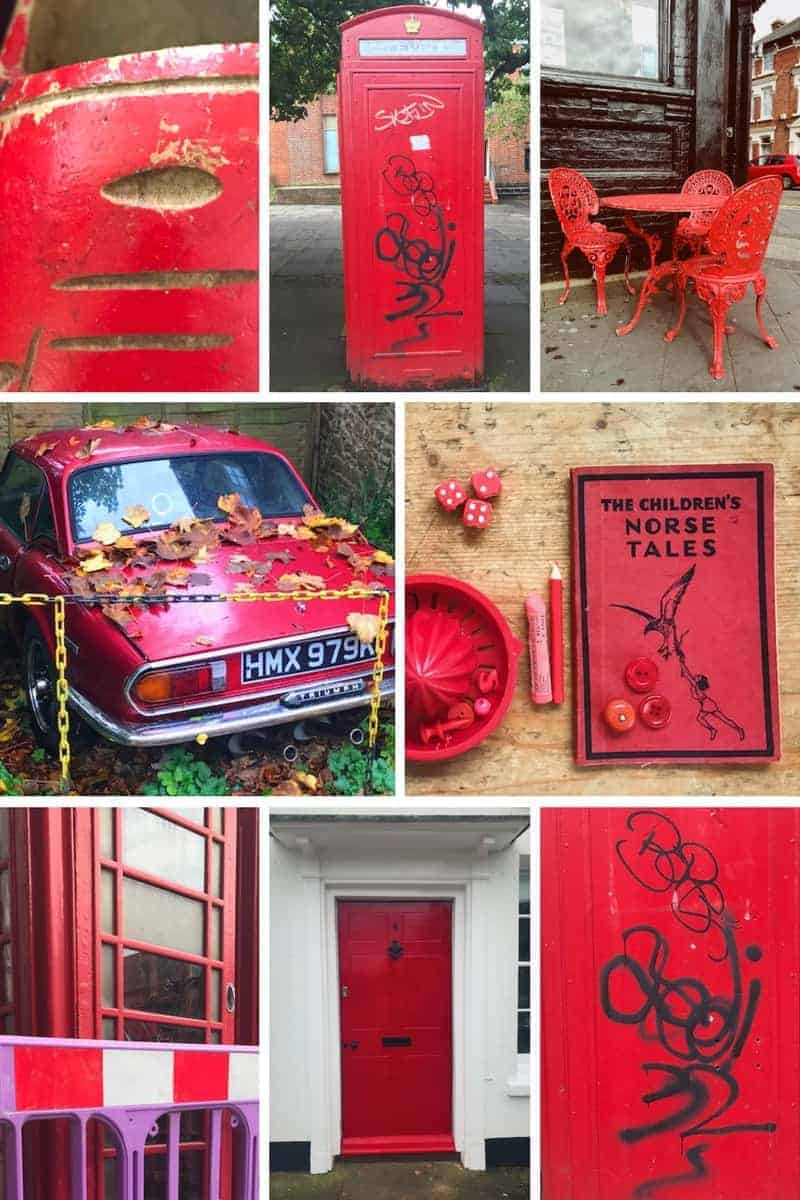 red photographic moodboard. Click through for more images from this week's Consciously Creative course all about colour. There are great ideas for you to try too - it could transform the way you see the world forever!