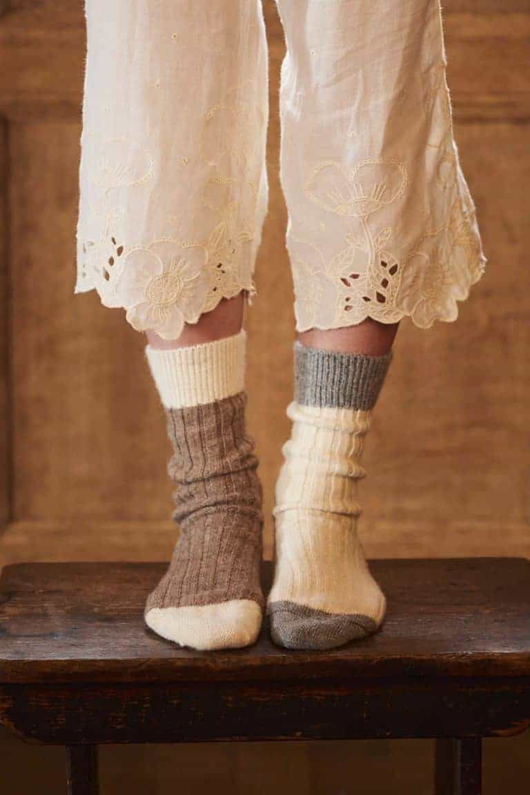 love these mismatched alpaca bed socks chosen by Polly Leanard, founder of Selvedge magazine. Click through to discover her other loves...