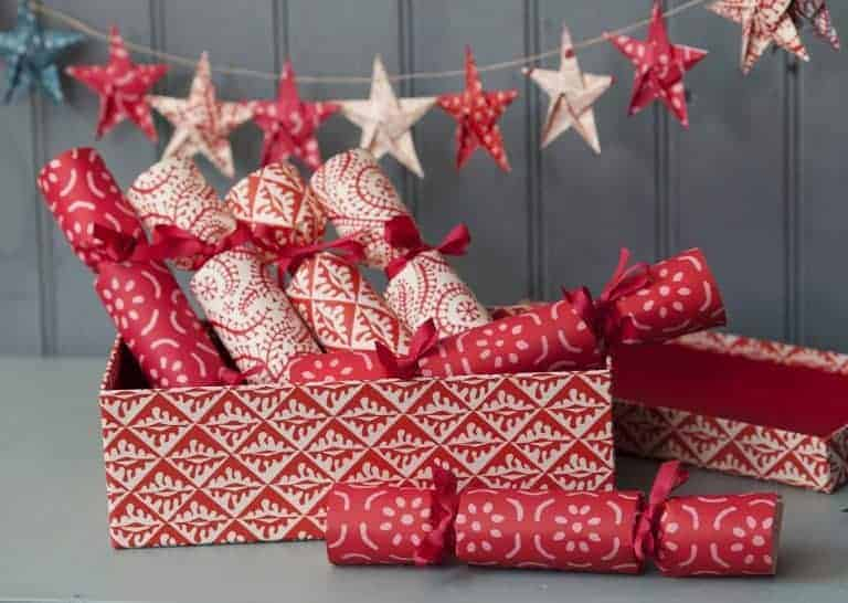 love these stylish make your own red and white scandi folk pattern crackers by Cambridge Imprint. Click through to find out more and discover Selvedge founder Polly's other Christmas loves...
