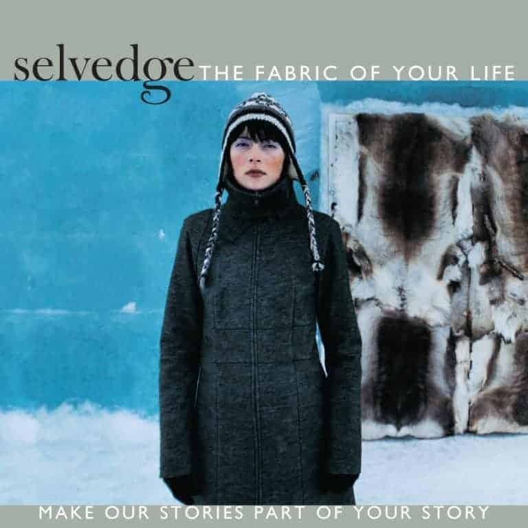 selvedge winter cover blue