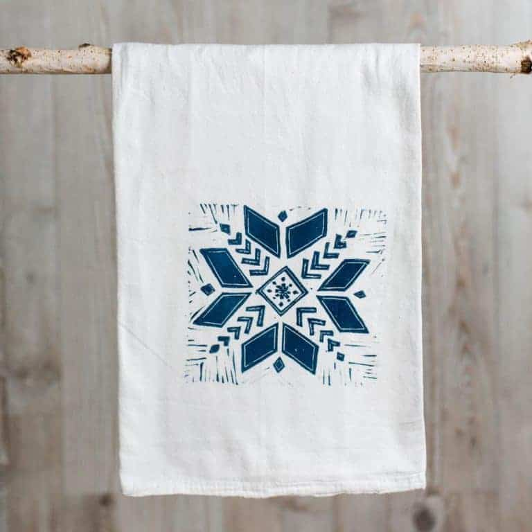 Snowflake printing block The Arty Crafty Place