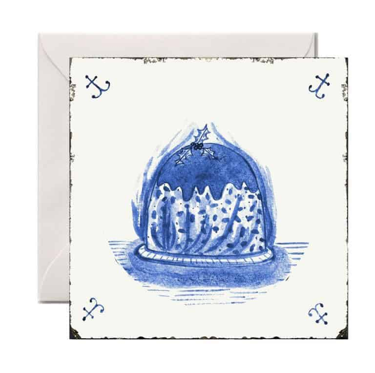 love these blue and white alex sickling delft tile cards