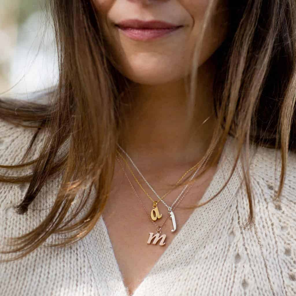 love these lower case initial necklaces by Cabbage White. Click through to discover more about these and our other absolute favourite Christmas gift ideas made in the UK