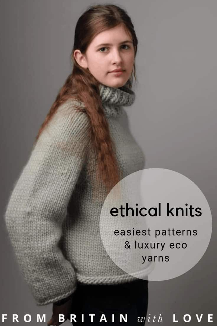 love Mrs Moon luxury ethical yarns and super stylish chunky knitting patterns that are easy to follow and, if you get stuck, check out their wonderful easy to follow step by step how to knit and crochet tutorials to show you how. #ethicalyarn #knitting #patterns #howtoknit #yarns #ethical #sustainble #luxury #frombritainwithlove #mrsmoon