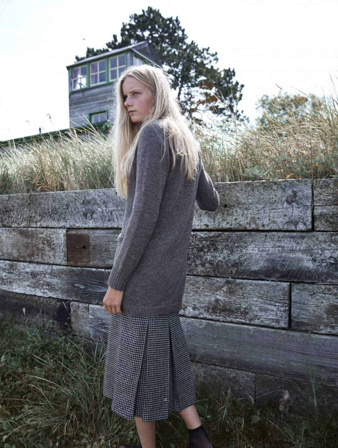 love this chunky grey cardigan from the new seasonal natural knitwear by izzy lane made in Britain using wool from her own flock of sheep. Click through to see the whole beautiful new collection