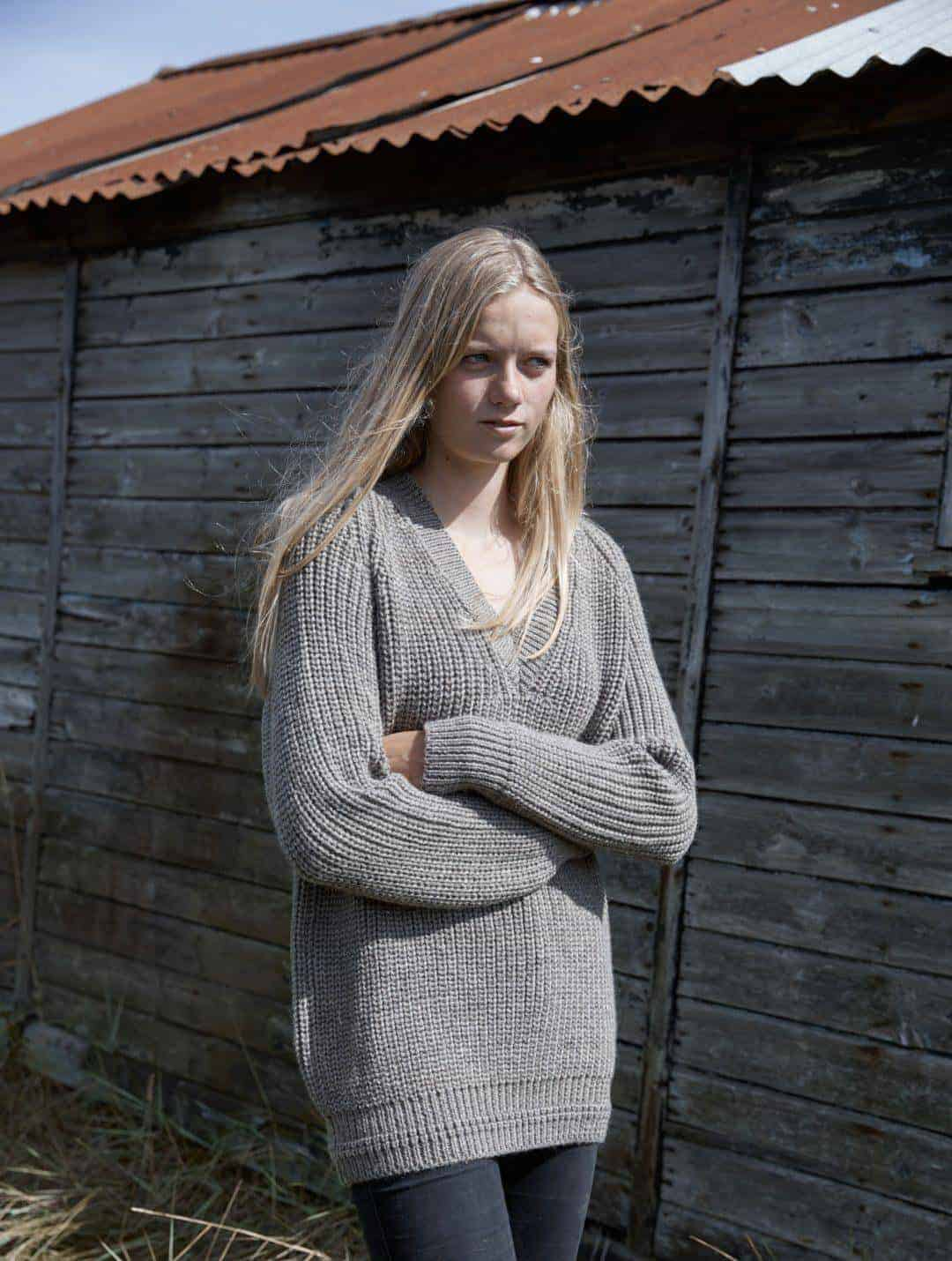 love this chunky grey sweater from the new seasonal natural knitwear by izzy lane made in Britain using wool from her own flock of sheep. Click through to see the whole beautiful new collection