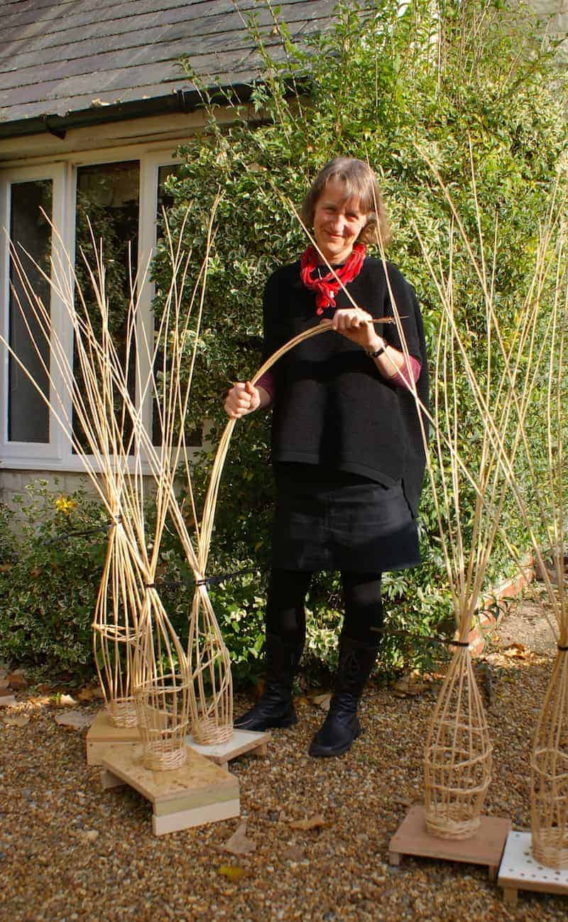 Judith Needham willow - click through to get easy step by steps to creating your own willow angel