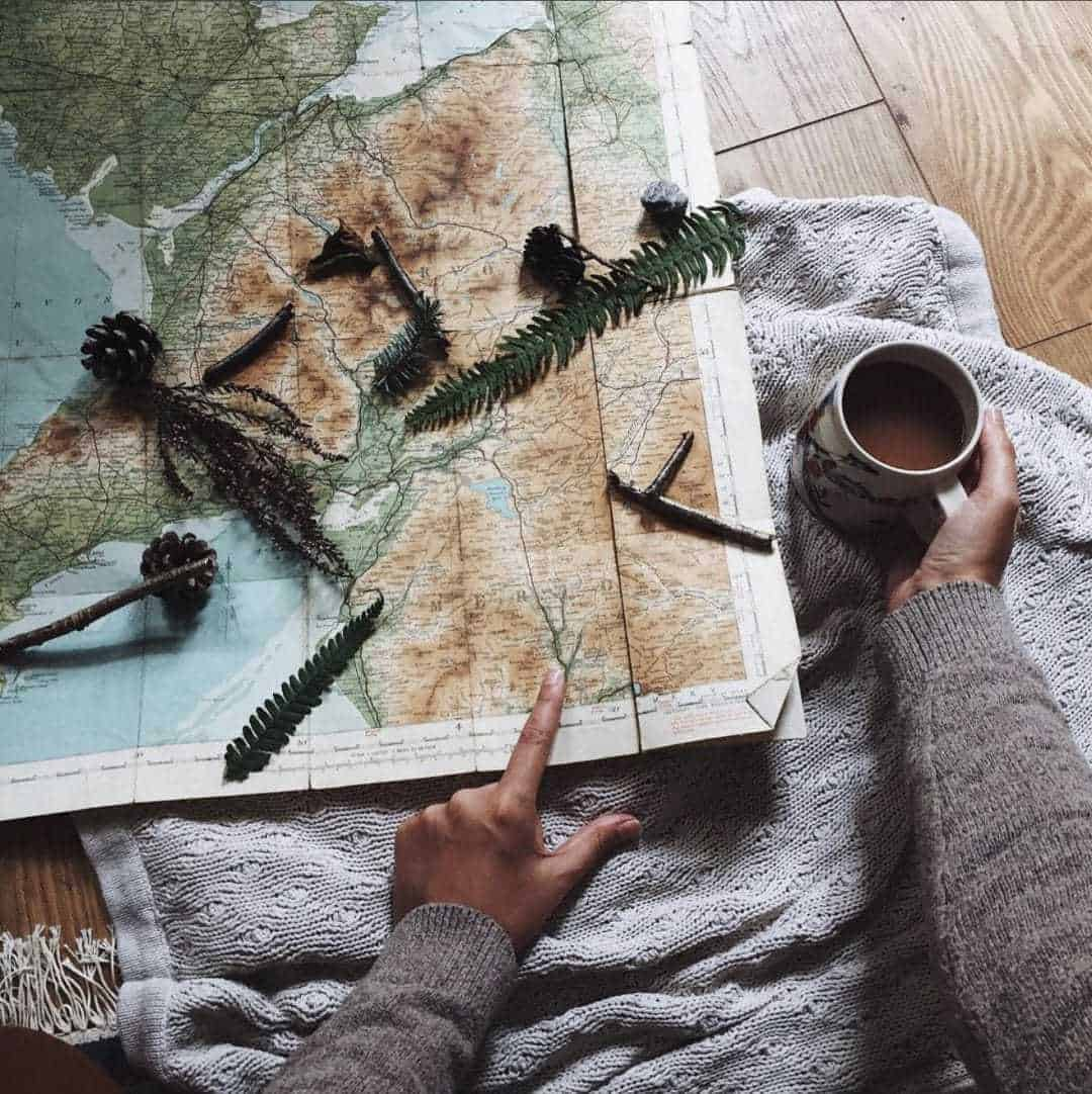 Love this vintage map. Slow living in Snowdonia - meet creative business coach, marketing mentor and blogger Simple and Season Kayte Ferris. She shares a little of the story behind her slow living lifestyle in Snowdonia as well as tips for achieving a more soulful lifestyle wherever you live
