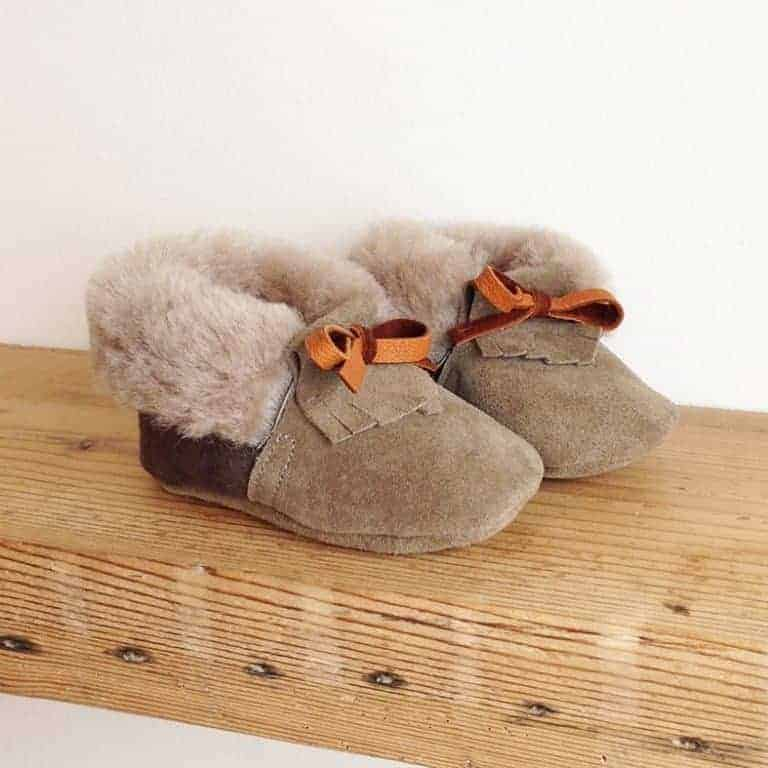 rose choules sheepskin shearling baby mocassin shoes