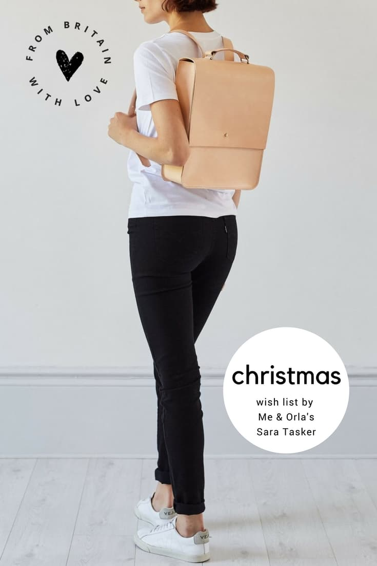 love this minimal nude leather backpack by Grace Gordon - as chosen by Sara Tasker of Me & Orla for her Christmas gift wish list. Click through to discover her other loves right now. You'll want them all...