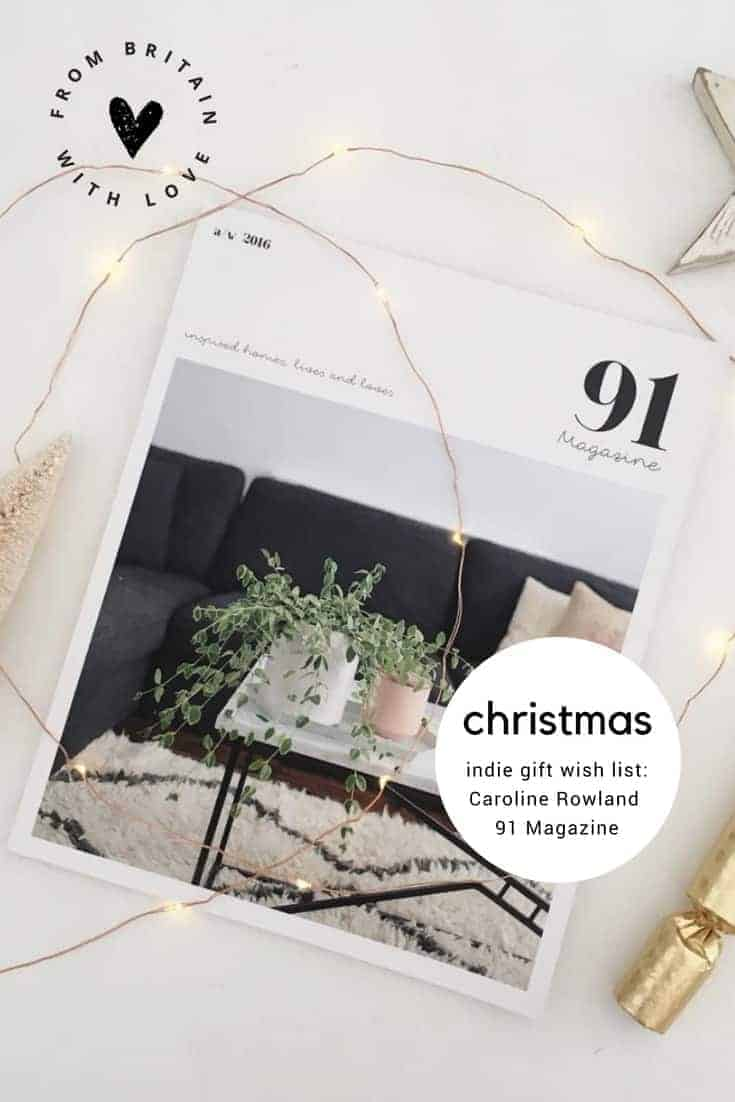 love this indie makers christmas gift wish list guide by 91 magazine editor Caroline Rowland. Click through to discover her beautiful - and individual choices....