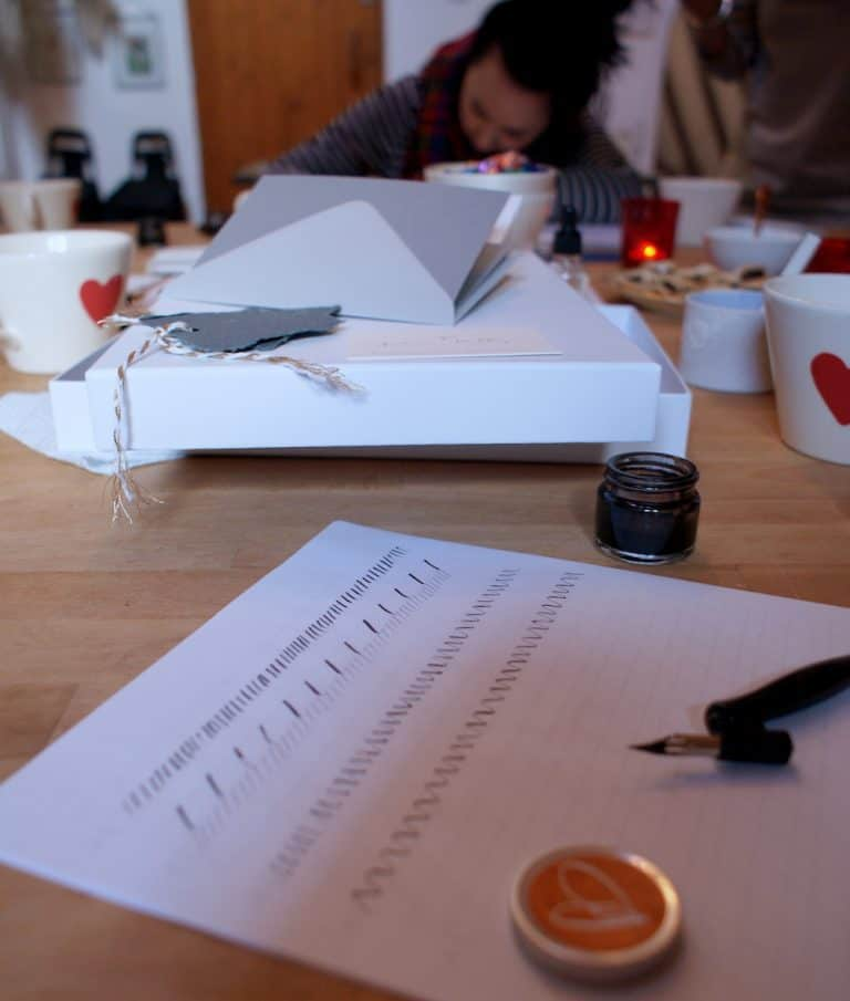 how to create christmas contemporary calligraphy workshop with gemma milly