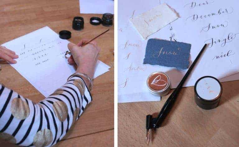love modern calligraphy workshops. Click through to get easy step by steps to try out contemporary modern calligraphy at home from Gemma Milly. We show you step by step #moderncalligraphy #calligraphy #handlettering #moderncalligraphy #frombritainwithlove