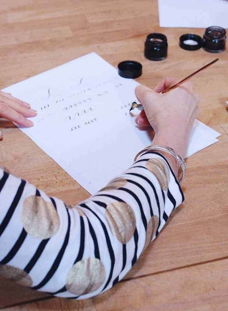 love modern calligraphy - join me as I learn how to master the basics of this beautiful and useful craft with Gemma Milly