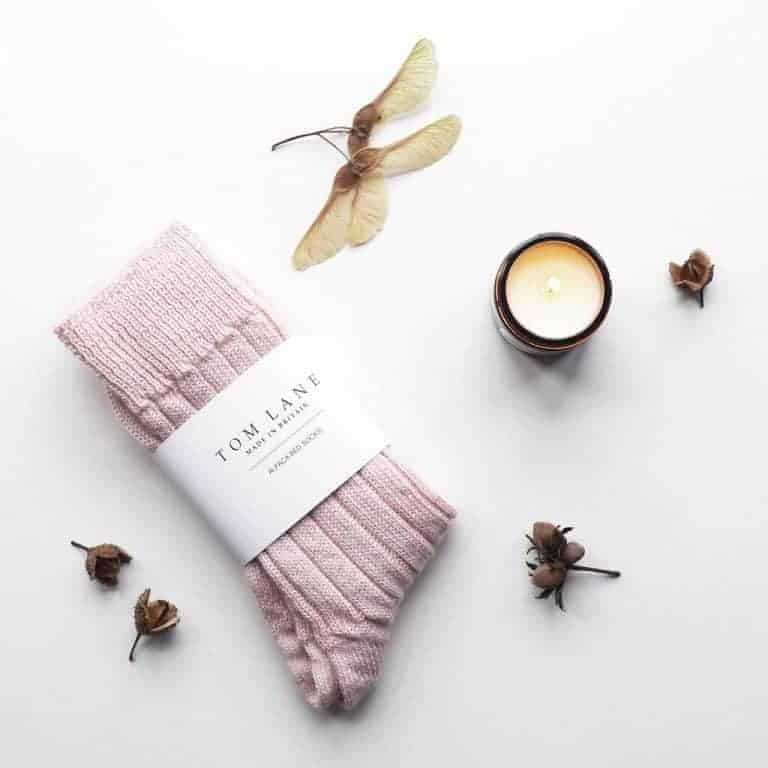 love these baby pink alpaca bed socks by Tom Lane. Click through to discover 91 magazine editor Caroline Rowland's other Christmas wish list loves...