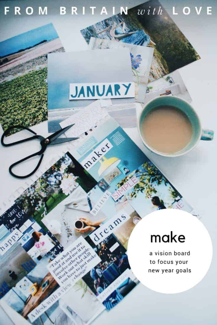 how to make a vision board. click through to find out how we made this one and how to create one for your own intentions and goals