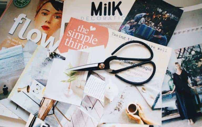 how to make a vision board. Compile a list of your favourite magazines then start cutting out images that speak to you. Click through to see more