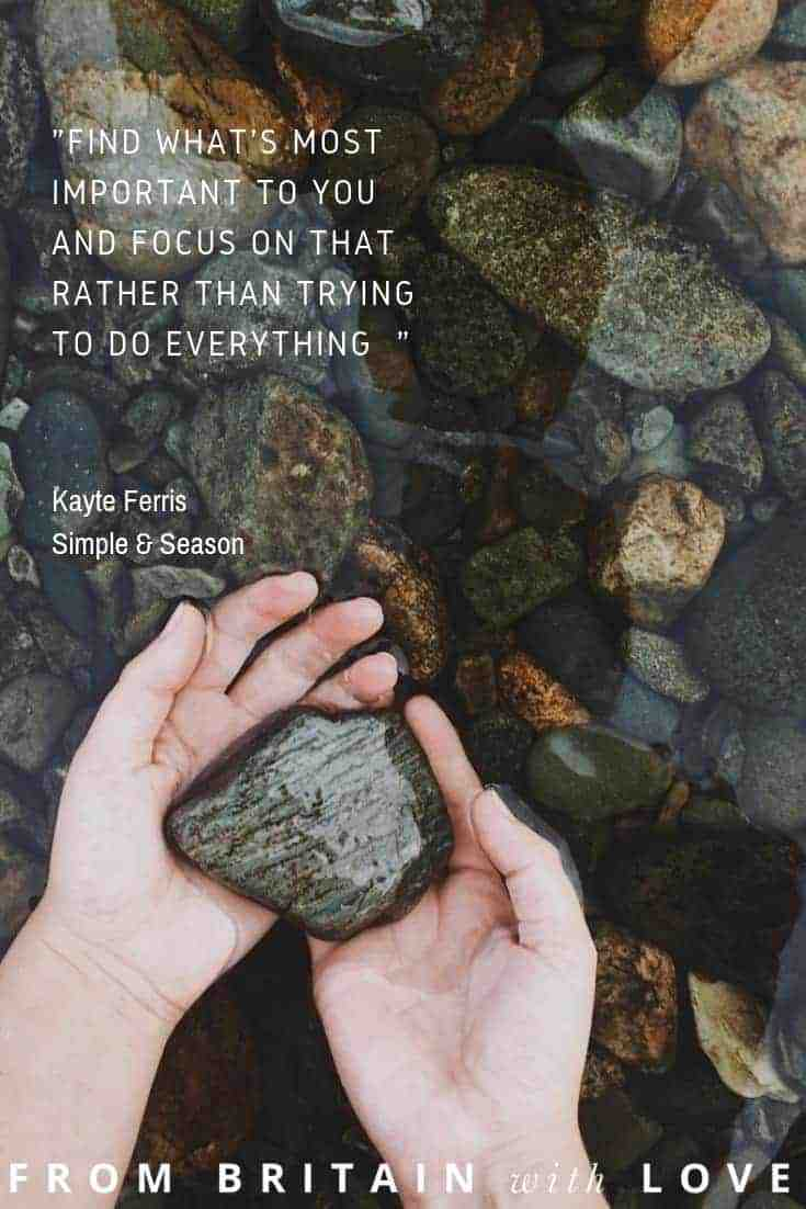 love this new year quote by kayte of simple and season about slow living not being about achieving perfection but appreciating the little things. Click through for more inspirational new year quotes and ideas you'll love from philippa stanton, sara tasker and more