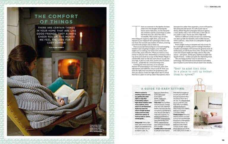 simple things magazine how to create a cosy nest