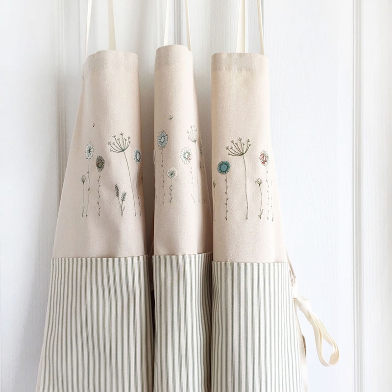 embroidered-wildflower-cotton-aprons