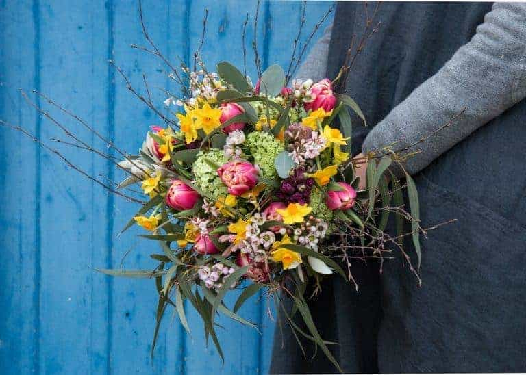 spring flower posy by The Real Flower Company