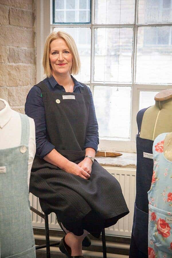 charlotte meek of the stitch society in her studio