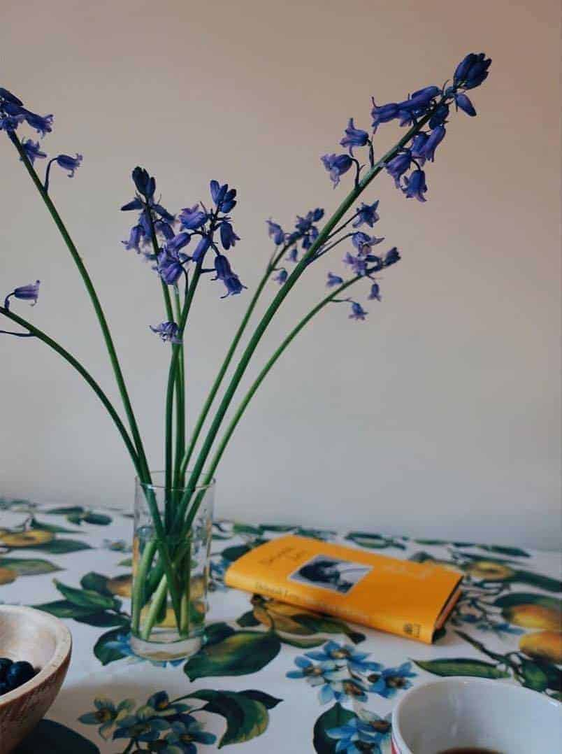 sometimes only bluebells in a simple jam jar will do... this is by Worm london - Click through for more spring flower arrangement ideas you'll love to try - simple DIY ideas