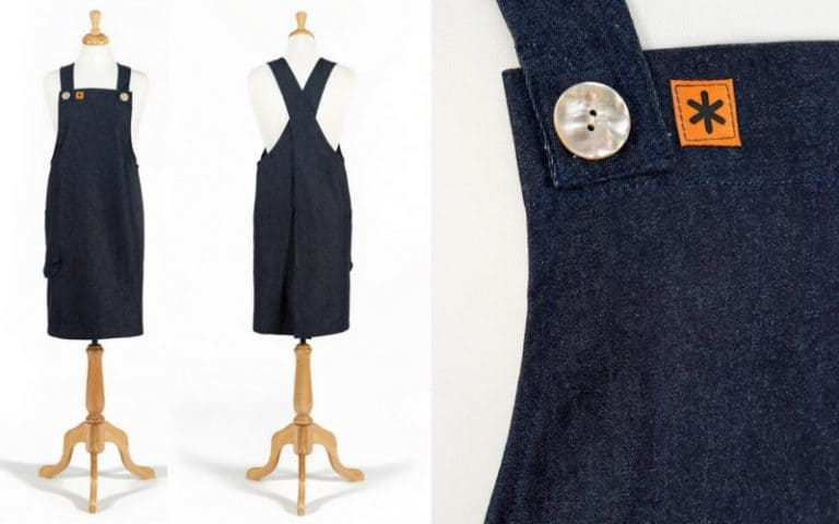 erin pinafore apron handmade by the stitch society