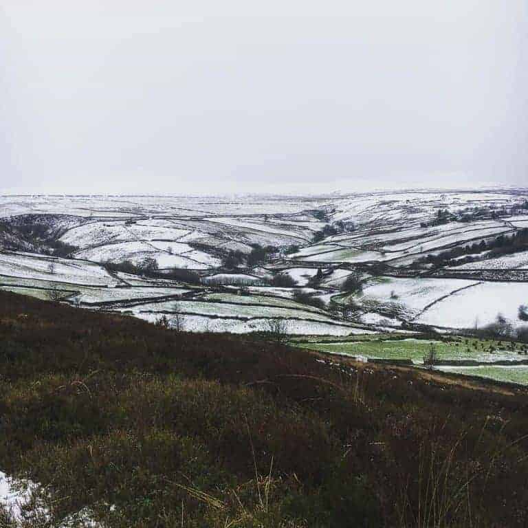 haworth yorkshire moors in the snow