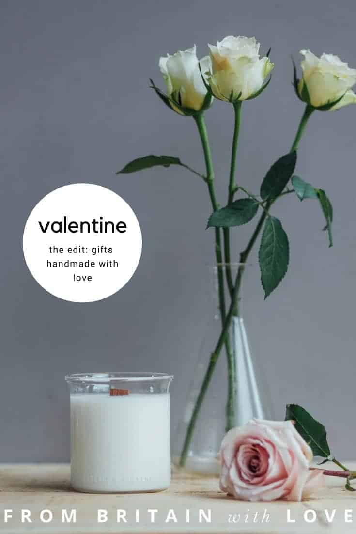 handmade valentine gifts - click through to discover our favourites including this hand poured natural Roses candle by Essence + Alchemy