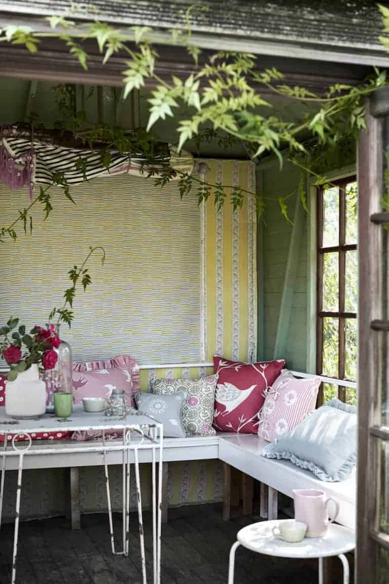 love the modern rustic country fabrics from Vanessa Arbuthnott's new Artists Collection range of organic linens