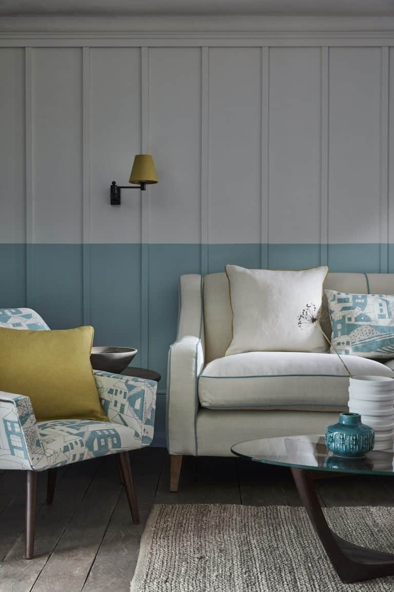 vanessa arbuthnott by the sea teal organic linen fabric. click through to see the rest of Vanessa's beautiful new Artists Collection