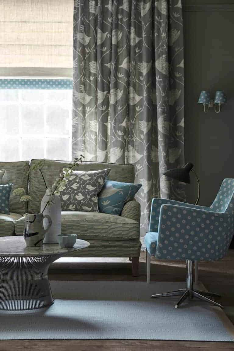 love these vanessa arbuthnott full flight scree grey blue hall curtains. Click through to discover the rest of the beautiful new Artists Collection of designs from Vanessa