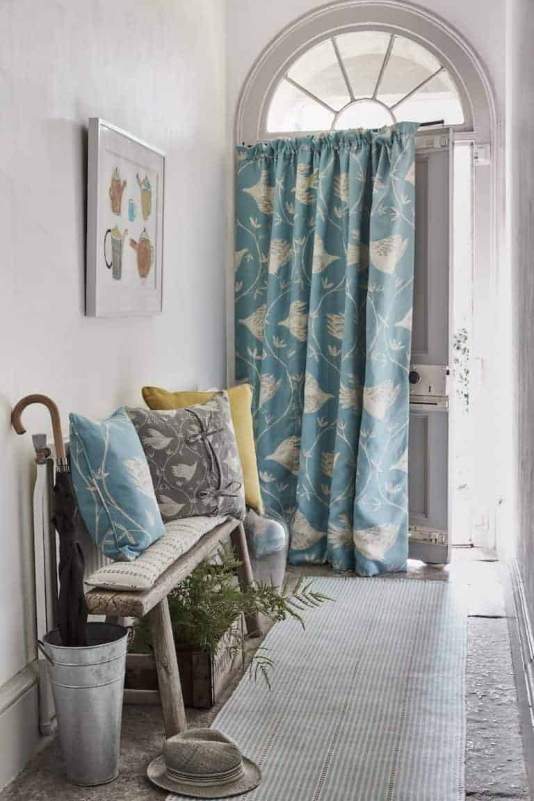 love these vanessa arbuthnott full flight powder blue hall curtains. Click through to discover the rest of the beautiful new Artists Collection of designs from Vanessa