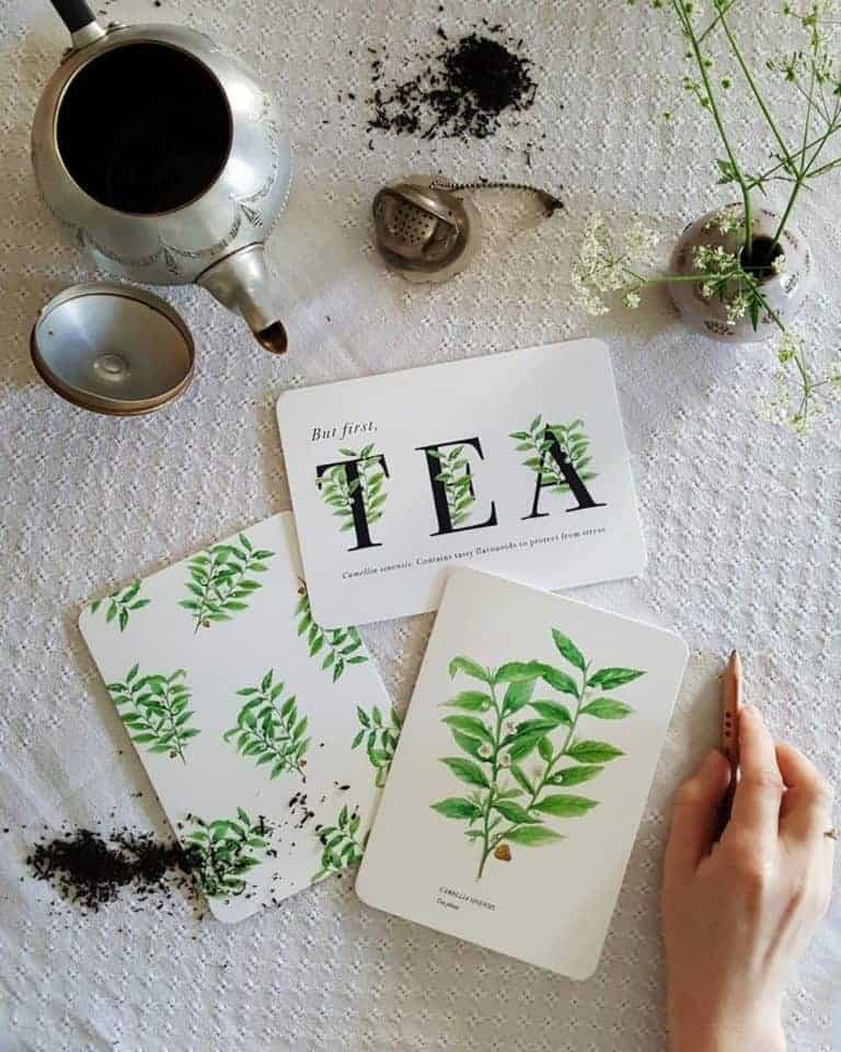 love this handmade printed tea greetings card by we are stardust