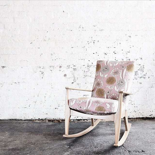 love this faded floral pink linen chair by Abigail Borg. Click through for more faded floral ideas you'll love