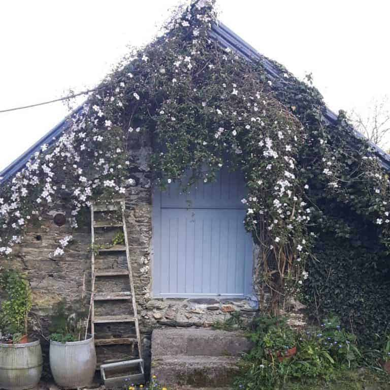 love this damson and slate welsh studio with blue stable door